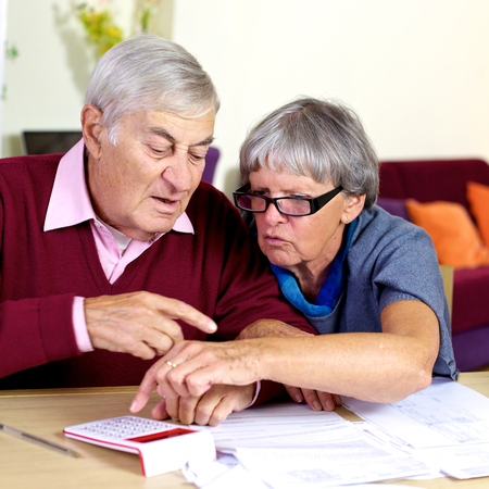 Counting expenses of the house two old people