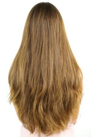 cabello rubio: Volumen masivo de pelo largo y rubio Foto de archivo