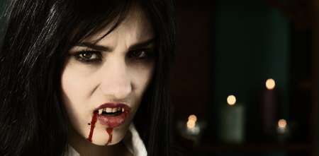 Bad vampire after sucking blood