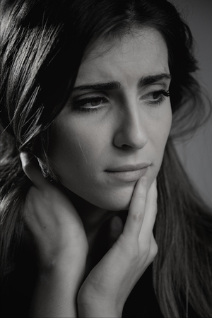 heartbreak issues: Woman after breakup feeling sad Stock Photo