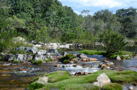 River and Waterfall at Rio Preto State Park in Minas Gerais called Prainha (translate to little beach) Imagens