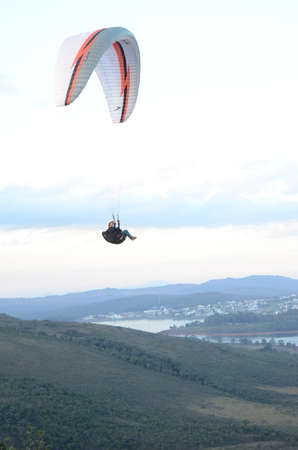Paragliding at sun set in Topo do Mundo (translated to Top of the World) in Minas Gerais