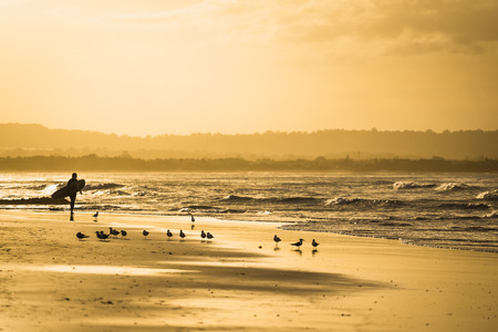 Surfer at Byron Bay