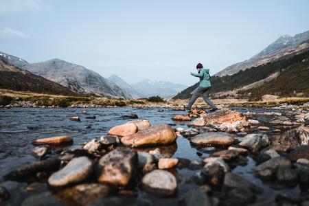 River through the landscape of Scotland