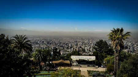 Santiago City View from Cerro San Cristóbal