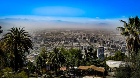 Santiago City View from Cerro San Cristóbal Chile
