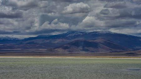 Chile atacama desert salt sea view