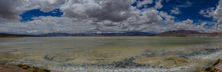 Chile atacama desert salt sea panorama 스톡 콘텐츠