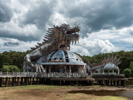 Vietnam Hue Water Park Lost Place dragon