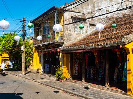 Vietnam Hoi An old City street view 스톡 콘텐츠