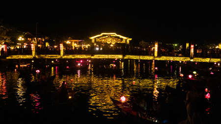 Beautiful Hoi an night market view