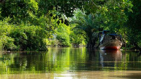 Vietnam Mekong Delta lake Boat tour