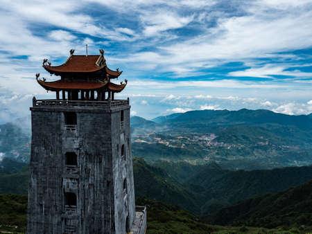 Vietnam Sapa Fansipan mountain view and landscape