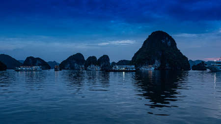 Vietnam Halong Bay boat tour by night