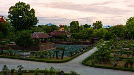 Vietnam Unseco old imperial city hue park 스톡 콘텐츠