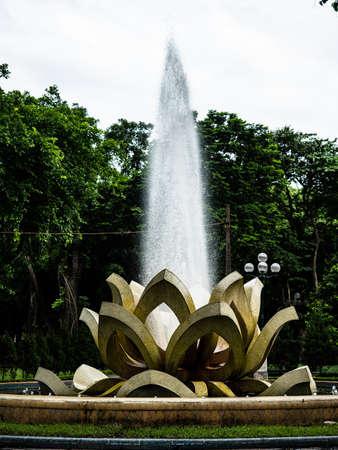 Vietnam Hanoi city lotus fountain view