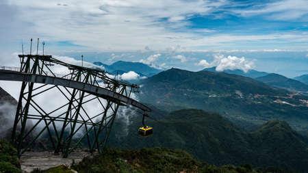 Vietnam Sapa Fansipan Cable Car station on 3000m