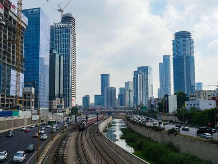 Israel Tel Aviv City Skyline in summer Stock fotó