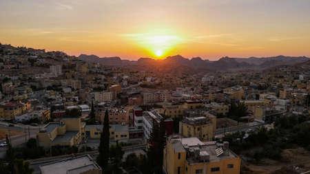 Jordan Petra beautiful City view on sunset