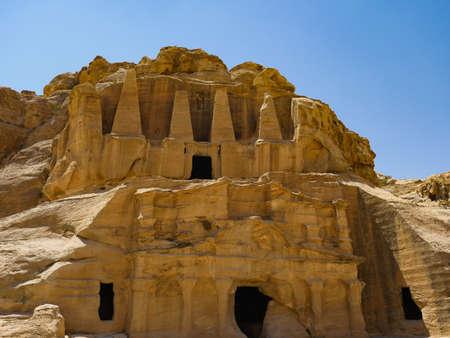 Jordan Petra famous ruins between the rocks
