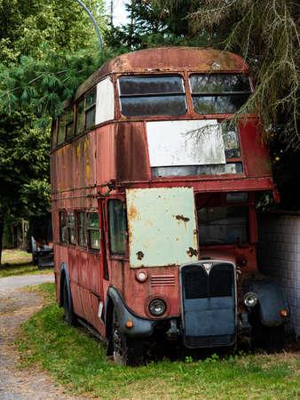 An old britian red doubledecker bus Stockfoto