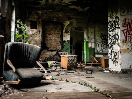 Lost rotten place living room with armchair