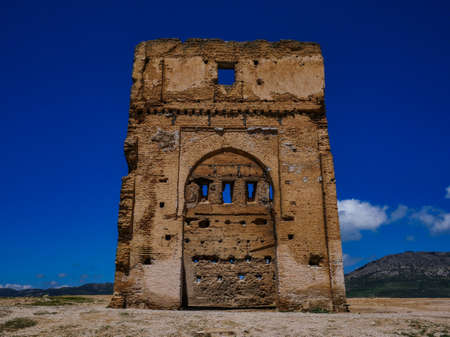 Morocco Fes old ruin on the mountains next to the city 스톡 콘텐츠