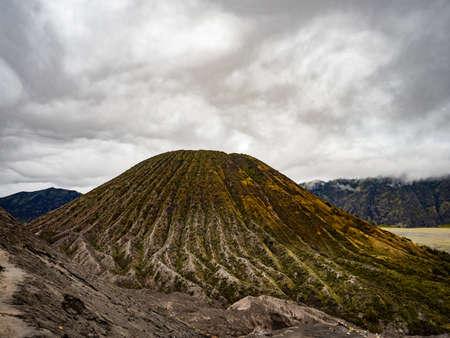 Mount Gunung Batok Volcano next to the Bromo, Indonesia on Java Island
