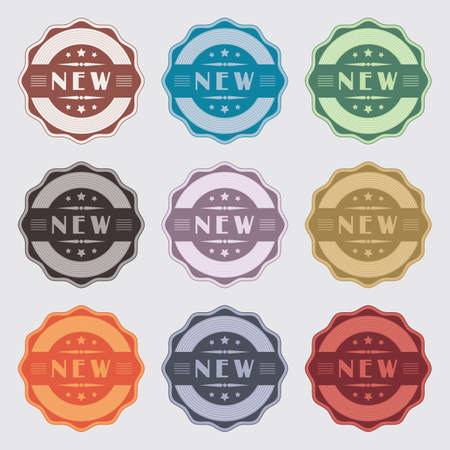 Set of 9 vintage labels for novelty
