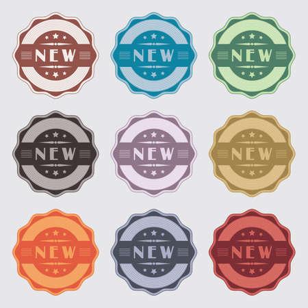Set of 9 vintage labels for novelty