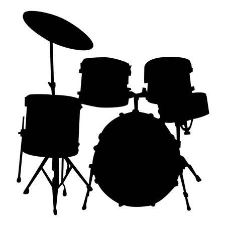 Music - black pattern of horn on a white background Ilustração