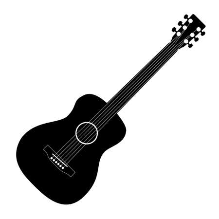 Music - black guitar pattern on a white background
