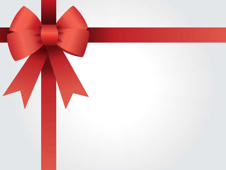 Background for gift cards, Christmas parties, sales, loyalty card, birthday with knot and ribbon