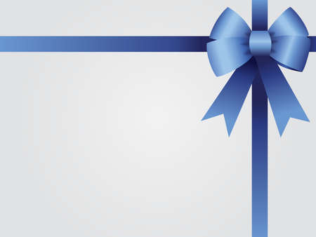 Background with blue knot and ribbons for gift card, Christmas card, loyalty card or gift certificate