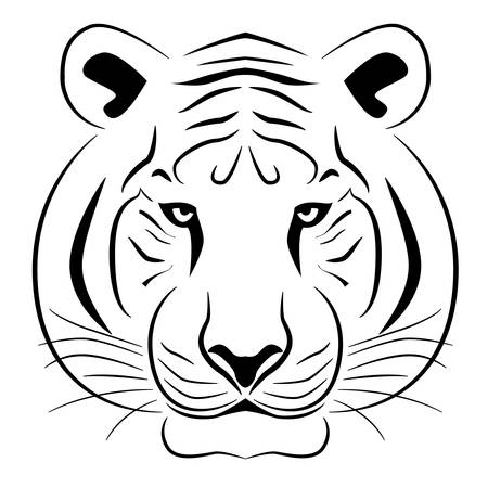 Drawing of a tiger's head