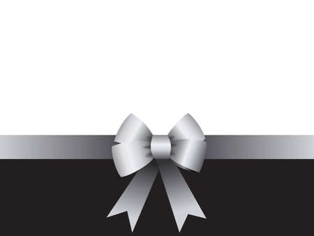 Background with knot and ribbon for Black Friday, sale, birthday, gift card, greeting card or loyalty card Ilustração