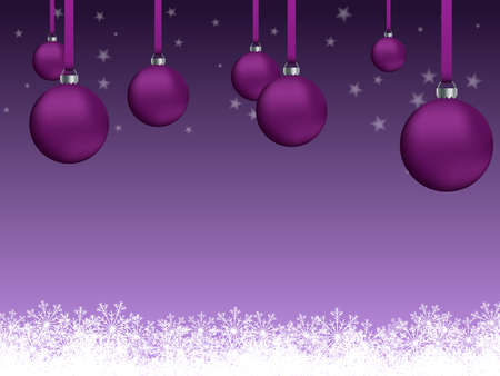 Christmas card background with fir decorations, stars and snowflakes Ilustração