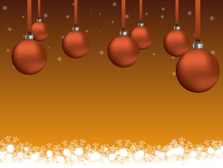 Christmas and New Year themed background with Christmas decorations and snowflakes