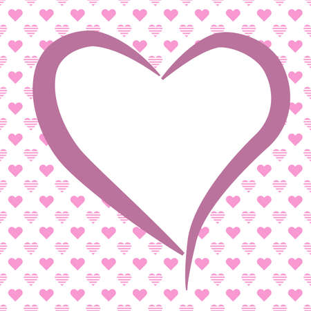Love themed background with hearts for Valentine's Day card, wedding or engagement