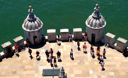 belem: Tourists in Belem, Lisbon Editorial