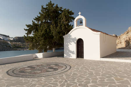 lindos: Lindos, Greece Saint Paul Stock Photo