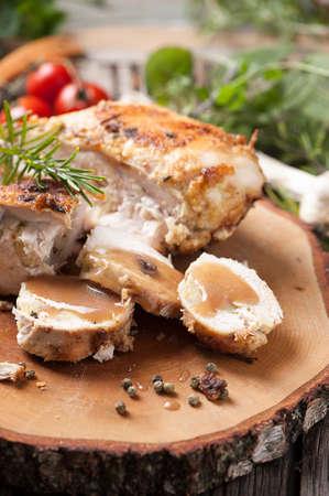 stuffed: Stuffed chicken