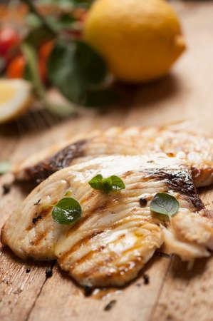 pescado frito: Espada filete de pescado