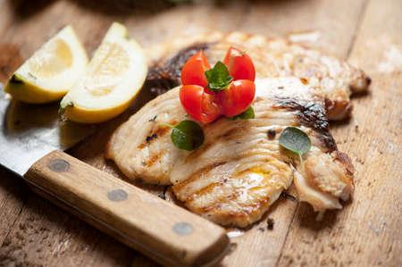 american food: Sword fish fillet
