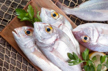 fish market: Pile of fish fish market Stock Photo