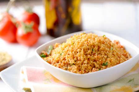 verse couscous met tomaat en peterselie