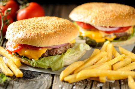 unhealthy: Burger Stock Photo