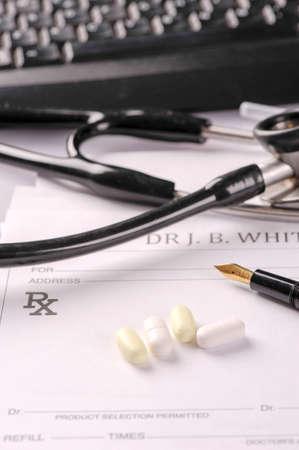 rx: Rx prescription medicine Stock Photo