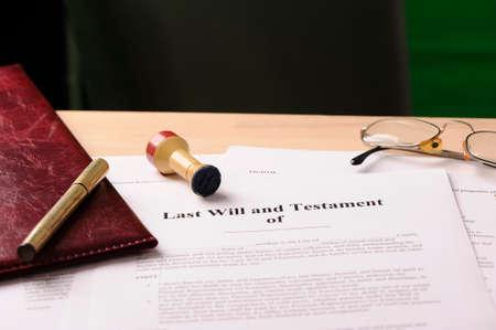 pluma de escribir antigua: Última voluntad y testamento