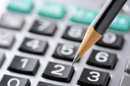 Potlood en rekenmachine Stockfoto - 42143639
